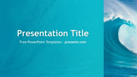 free ocean waves powerpoint template prezentr