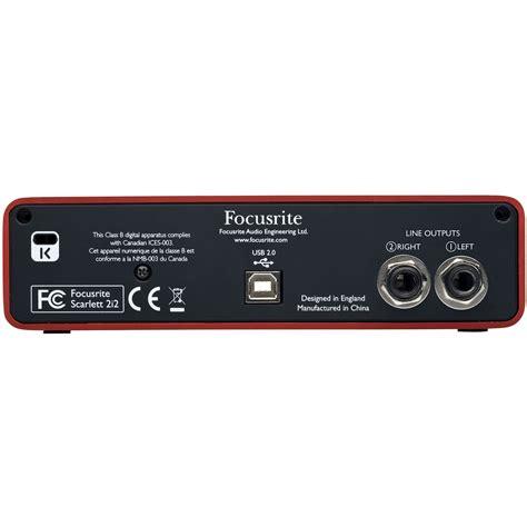 Usb Audio Interface focusrite 2i2 usb audio interface at gear4music ie