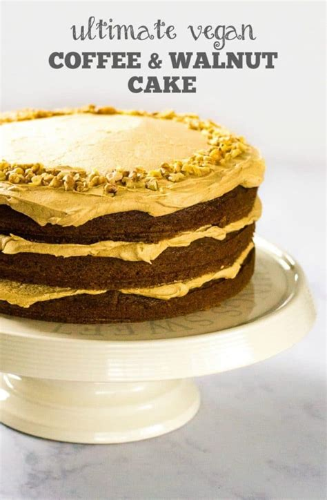 Light Walnut By Minimarket Vegan recipe the ultimate vegan coffee walnut cake the veg
