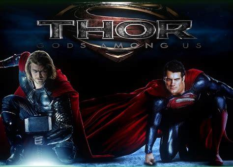 movie thor vs man of steel superman thor vs superman gods among us by skufius on deviantart