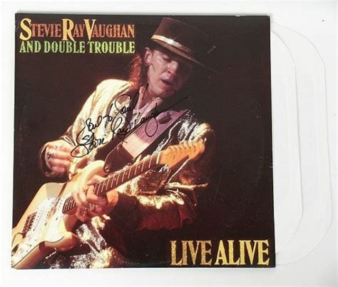signed stevie ray vaughan album