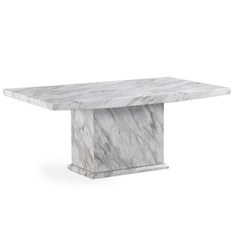 Marble Effect Coffee Tables Palermo Contemporary Marble Effect Wooden Coffee Table In