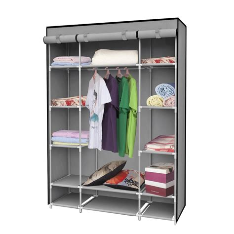 clothes storage 1set clothe storage wardrobe simple portable cloth closet