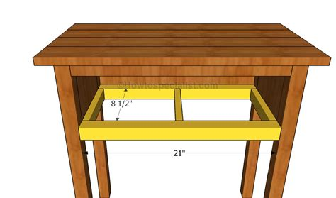 Drawer Support by Bedside Table Plans Howtospecialist How To Build Step