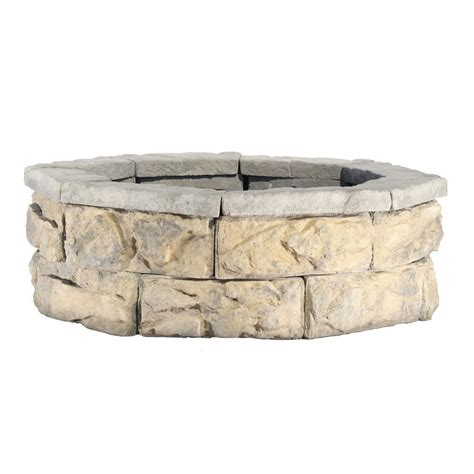 Fire Pit Bowl Home Depot - 30 in fossill limestone fire pit kit fsfpls30 the home depot