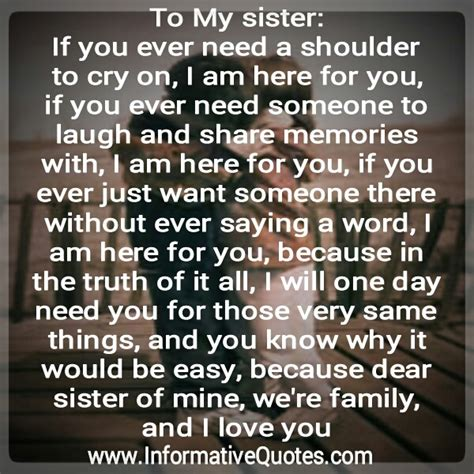 I Love You Sister Quotes love my sister quotes quotesgram