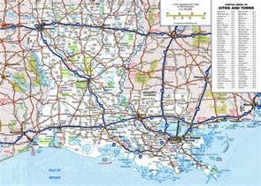 large detailed roads and highways map of louisiana state