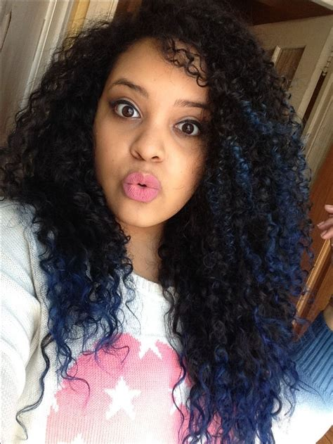 ombre tips and styles for kinky hair blue tips natural curly hair ombr 233 curly hair