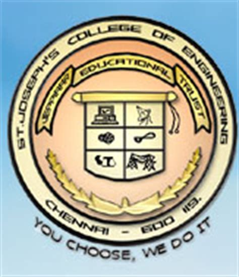 St Joseph College Chennai Mba Fee Structure by St Joseph S College Of Engineering Chennai Chennai