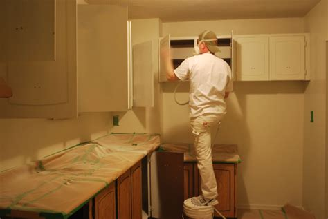 Spray Painting Kitchen Cabinets Living Colours Painting How To Spray Paint Kitchen Cabinets