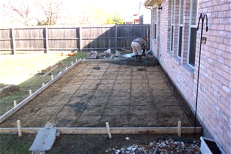 How To Pour A Concrete Slab For A Shed by Installing Decking Concrete Patios