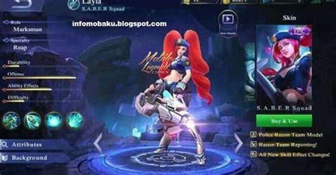 nama squad mobile legend keren segera hadir skin epic layla mobile legends terbaru