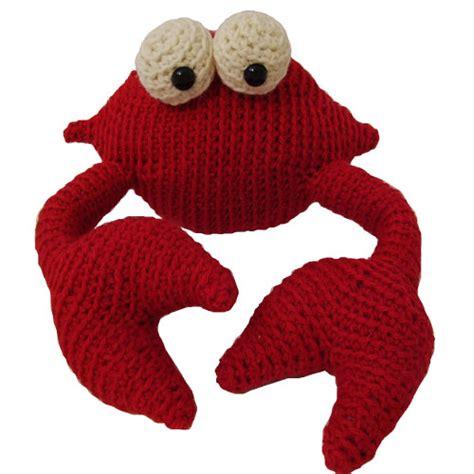 crab knitting pattern crab crochet pattern freshstitches