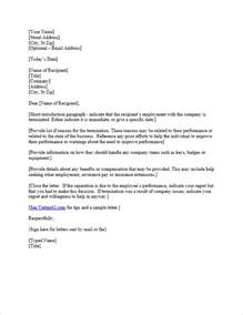 termination of employment notice template free termination letter template sle letter of