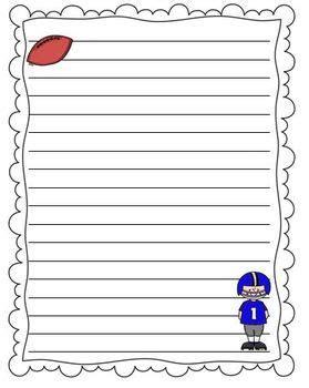 Football Writing Paper Football Writing Paper School Pinterest