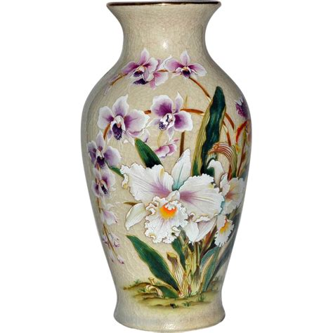 Toyo Vase Vase White Orchid Porcelain Toyo Japan From Artsnends On