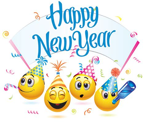 emoji new year happy new year emoticons symbols emoticons