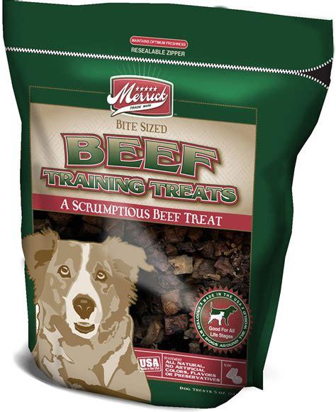 chewy treats merrick beef treats 5 oz bag chewy