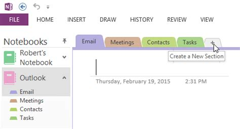 default template for outlook items sent to onenote