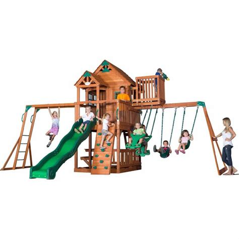 sky fort wooden swing set backyard playground and swing sets ideas backyard play