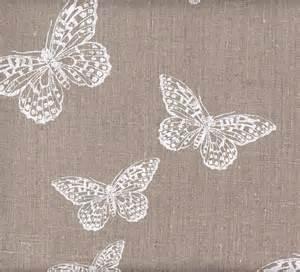 100 linen butterfly print fabric the shabby chic guru