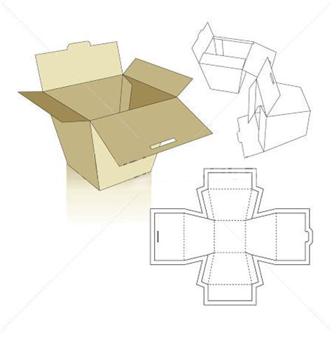 Paper Folding Box Template - box templates corrugated and folding box