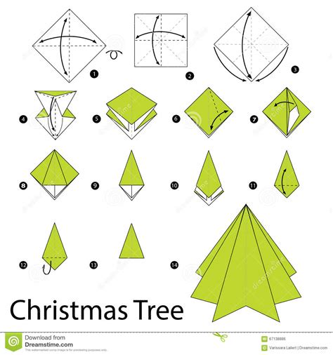 How Do You Make A Tree Out Of Paper - origami step by step how to make origami