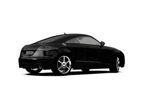 car white background isolatedbeautiful black car on white background stock