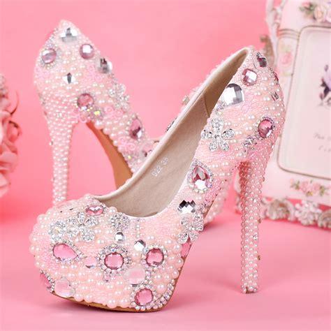 Promo Sepatu Fashion Sandal Wedges Korean Jepit Lv Heels 2015 newest design sweetness pink color bridal wedding
