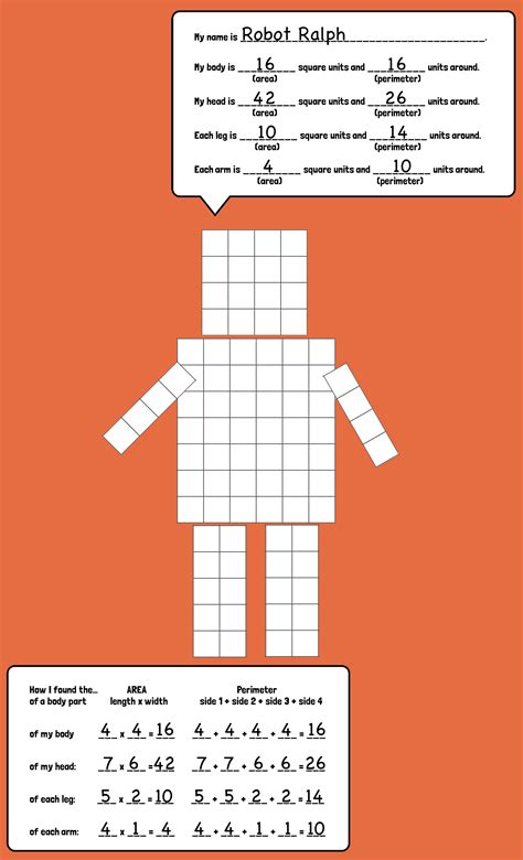 get printable area c area and perimeter robots robot creativity and students