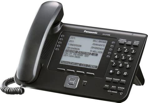 Office Desk Phones Panasonic Kx Ut248 Black Sip Office Desk Phone W O Psu Callsure