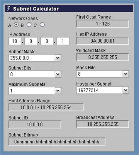 calculator subnet ipv4 address classes and subnet mask