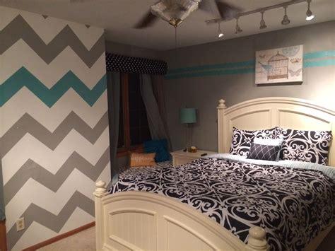 gray teenage girl bedroom teen girl room chevron wall blue gray stuff i did