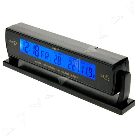 Monitor Votre digital car voltage monitor battery alarm clock lcd temperature thermometer 12v ebay