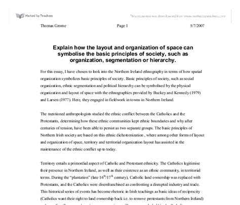 layout for essay explain how the layout and organization of space can