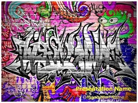 templates powerpoint graffiti 13 best images about art powerpoint templates culture