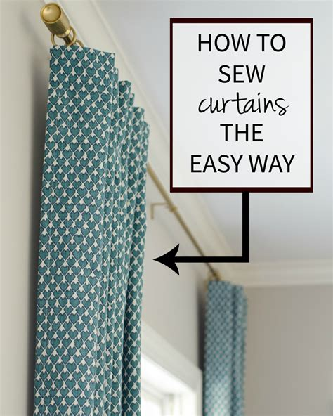 how to make drapes curtains how to sew curtains the easy way the chronicles of home