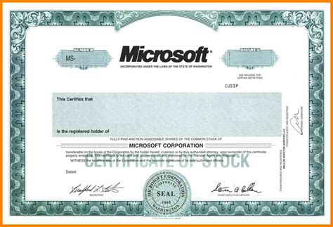 corporate stock certificate template free corporate bond certificate template outletsonline info