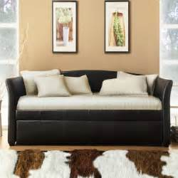 Leather Daybed With Trundle Tribecca Home Deco Brown Faux Leather Daybed With Trundle