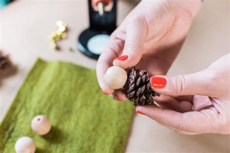 elves ornaments how to make mini pinecone ornaments hgtv