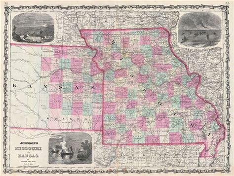 map missouri and kansas johnson s missouri and kansas geographicus antique maps