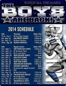 Calendario Nfl 2014 2014 Dallas Cowboys Schedule Dallas Cowboys 2014 2015 Nfl
