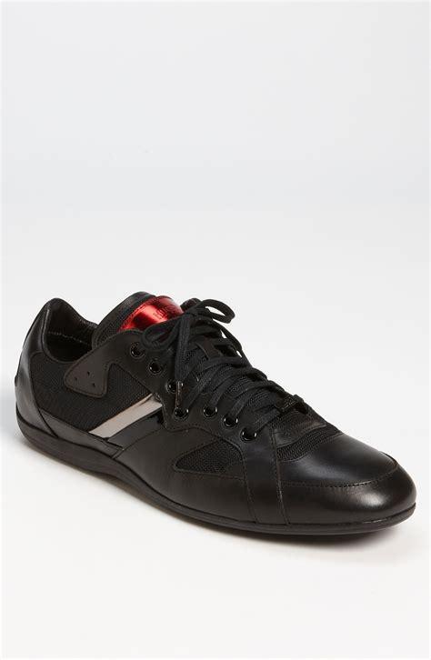 hugo sneaker shoes hugo black theto sneaker in black for lyst