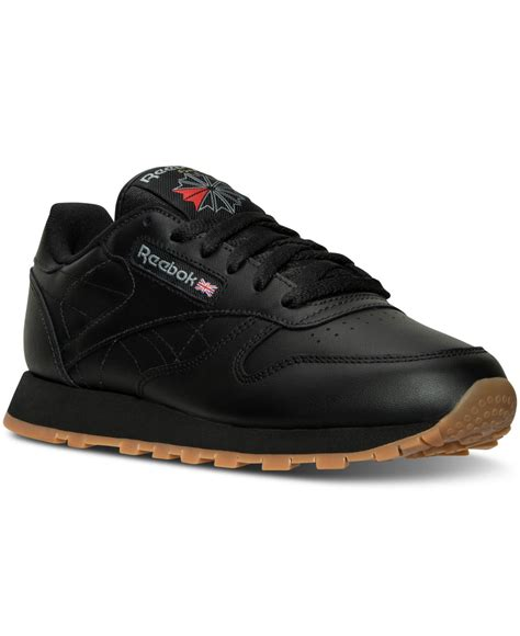 reebok s sneakers reebok s classic leather casual sneakers from finish