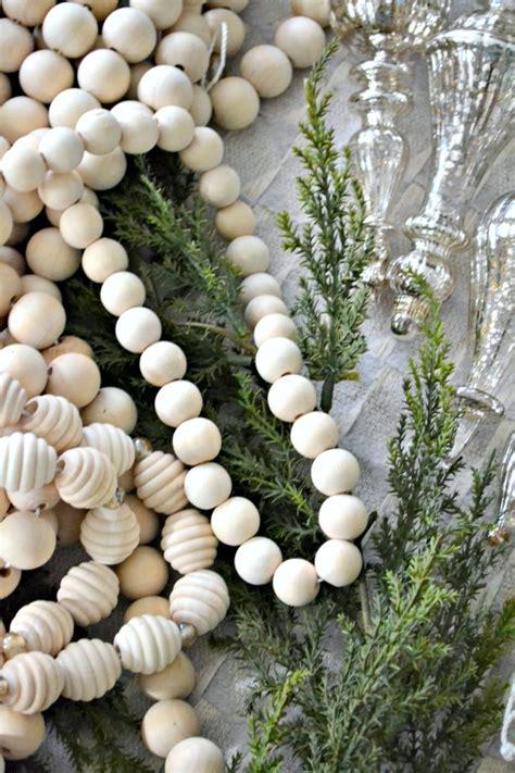 diy extra long wood bead garland  ways ugly duckling house