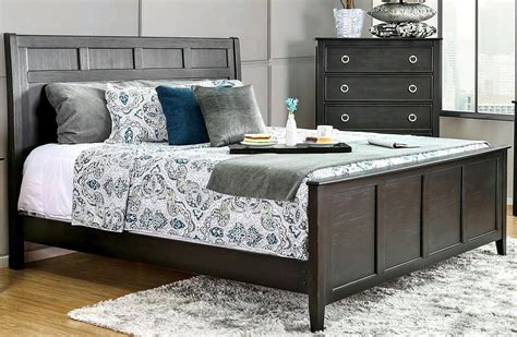 black panel bed arabelle wire brushed black cal king panel bed from