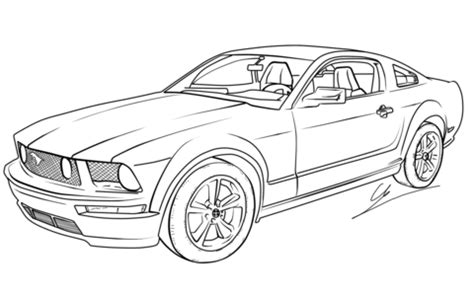 ford mustang gt coloring page | free printable coloring pages