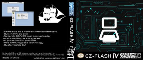 tutorial ez flash iv ez flash iv game boy advance box art cover by romevi