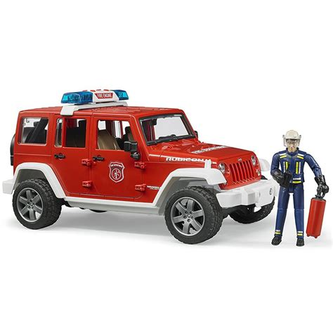 Bruder Jeep Bruder Jeep Rubicon Rescue With Fireman Vehicle Set