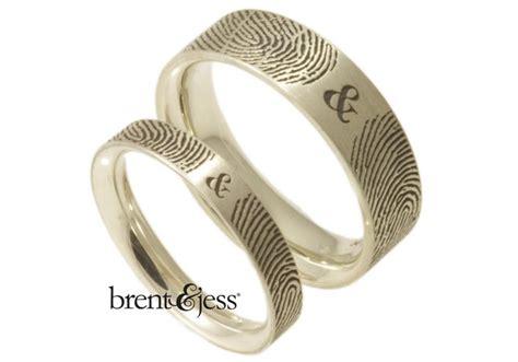 brent jess make fingerprint wedding rings so lovely they
